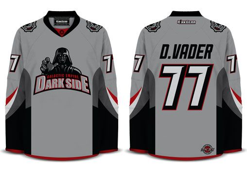 1adfc0108 Galactic Empire Dark Side Hockey Jersey Geeky Jerseys.com | It's a ...