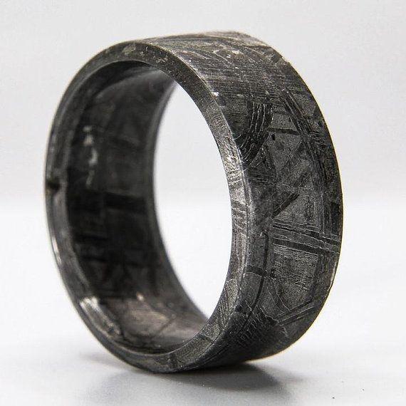 Solid Meteorite Ring Meteorite Ring Men Muonionalusta Etsy In 2020 Mens Meteorite Ring Meteorite Ring Mens Wedding Bands Unique