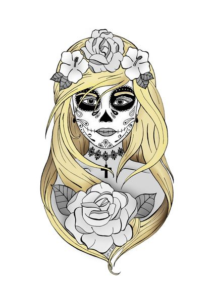 santa muerte blond desse de la mort blonde sabrina beretta art et be