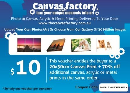 Would you like to get your photo printed onto a 20 x 30cm Canvas, which comes ready to hang on your wall, for only $10?!  We're raising money for the Clare Showgrounds and the upcoming Northern Autumn Garden Festival by selling vouchers from the Canvas Factory that will save you a massive $59 on your canvas PLUS you get 70% off any other products on their site!   You may buy more than one, but only one may be used at a time.   Shipping is one flat rate fee of $14.95 per order.