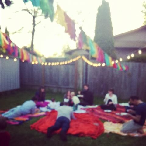 our bohemian Mexican picnic! What a fun night this was!