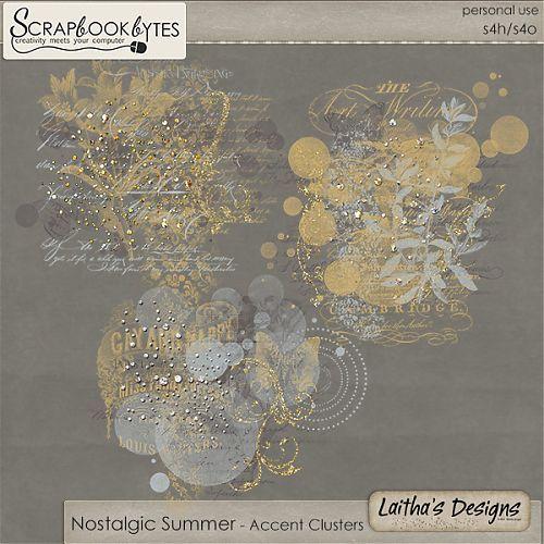Nostalgic Summer - Accent Clusters :: Empherals & Clusters :: Embellishments :: SCRAPBOOK-BYTES