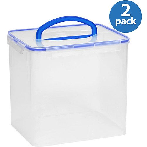 snapware airtight plastic 40 cup food storage container w large handle 2 pack nice. Black Bedroom Furniture Sets. Home Design Ideas