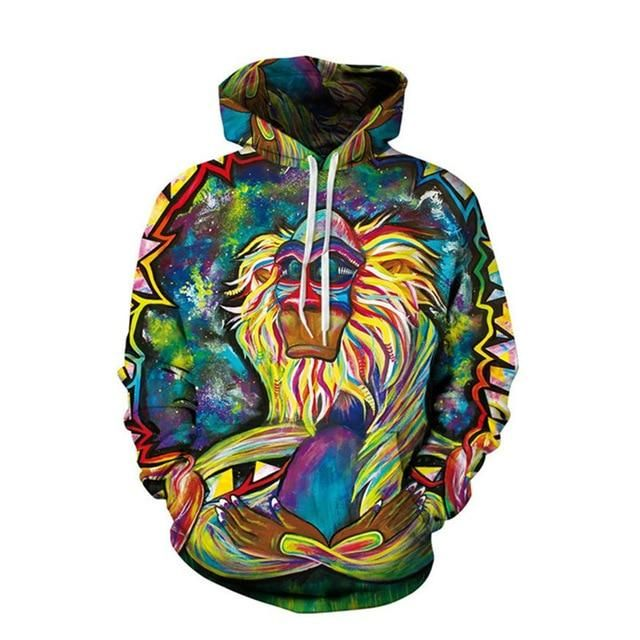 Newest Womens Mens 3D Print Spilled Milk Galaxy Sweatshirt Hoodies Pullover Tops