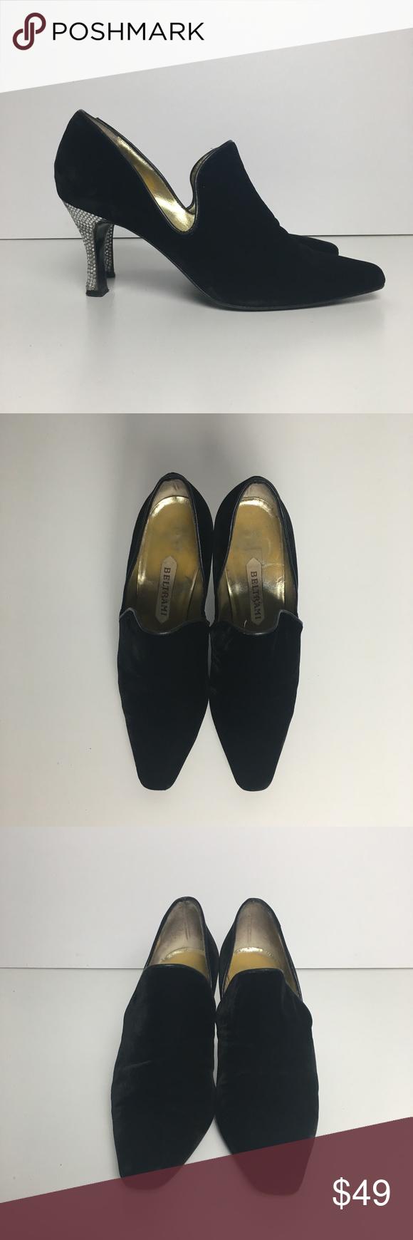 0684a7f1202 Vintage Beltrami heeled velvet loafers sz 9 Vintage Beltrami heeled velvet  loafers sz 9 Made in