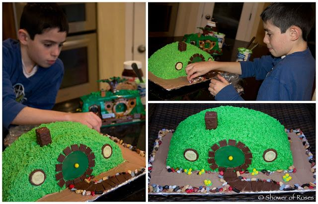 Shower of Roses: Bilbo's Hobbit Hole :: A Hobbit Themed Birthday Cake...