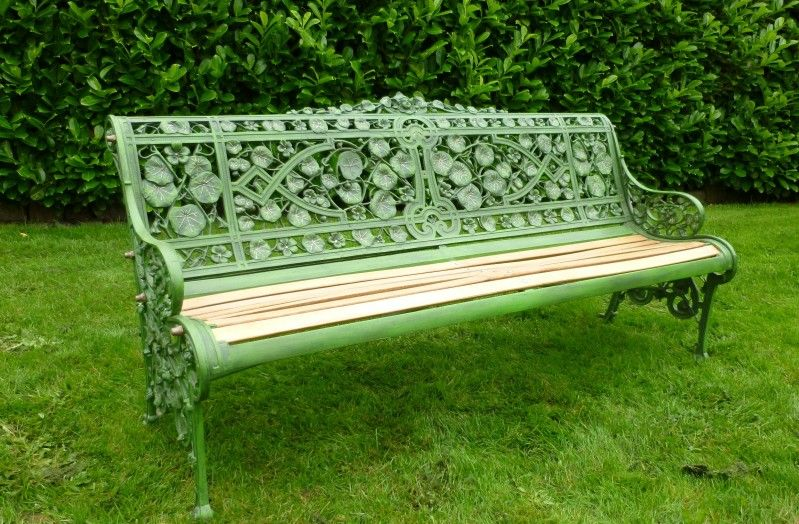 Groovy Coalbrookdale Nasturtium Pattern Garden Bench Caraccident5 Cool Chair Designs And Ideas Caraccident5Info