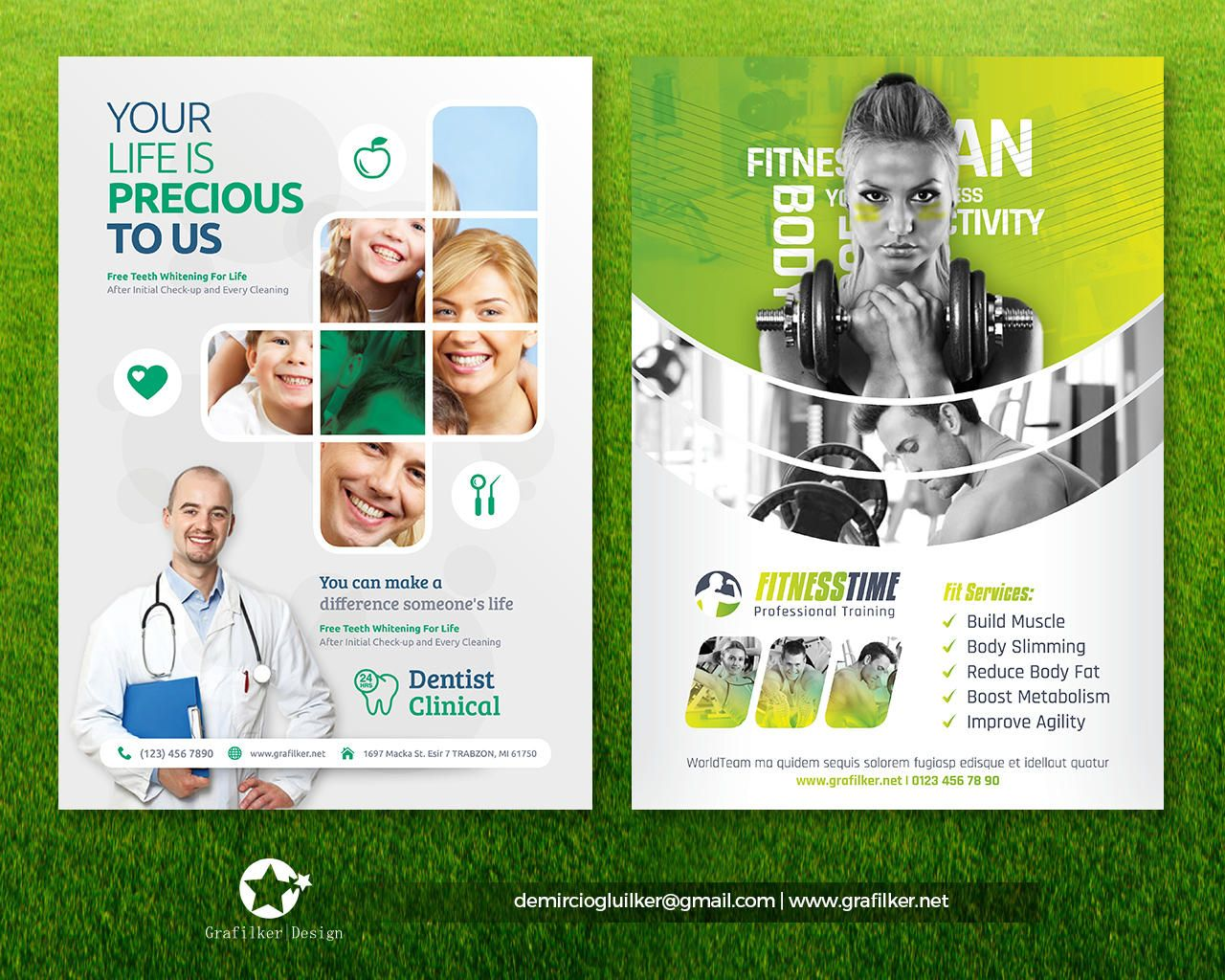 Professional Flyer Templates By Grafilker On Envato Studio Poster