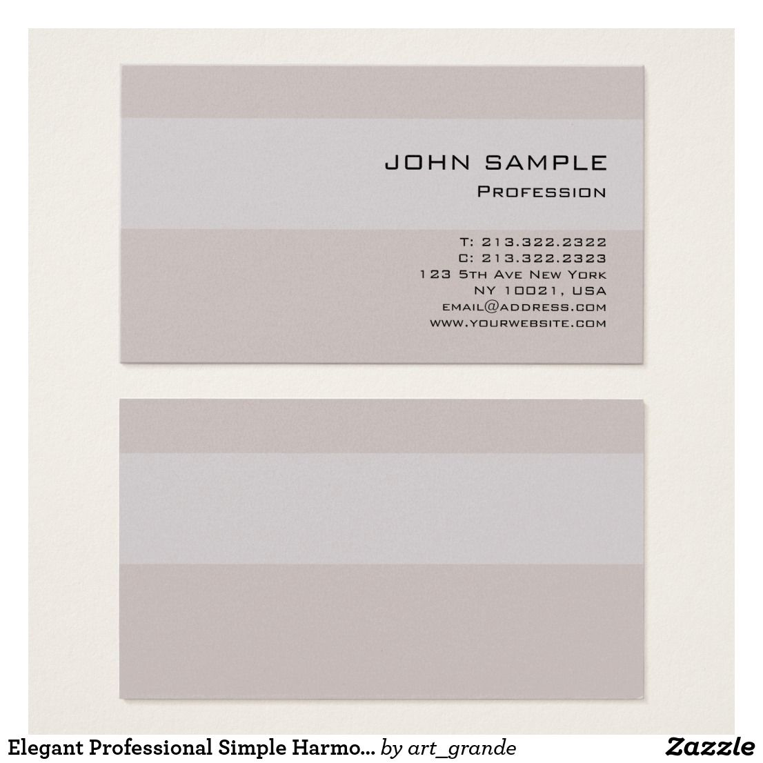Elegant Professional Simple Harmonic Colors Luxury Business