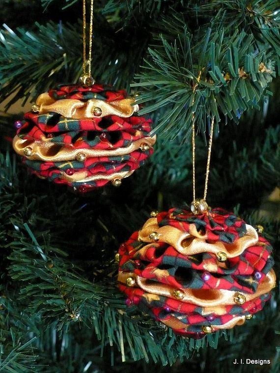 Yoyo Christmas ornaments - Yoyo Christmas Ornaments Hand Made Ornaments Pinterest