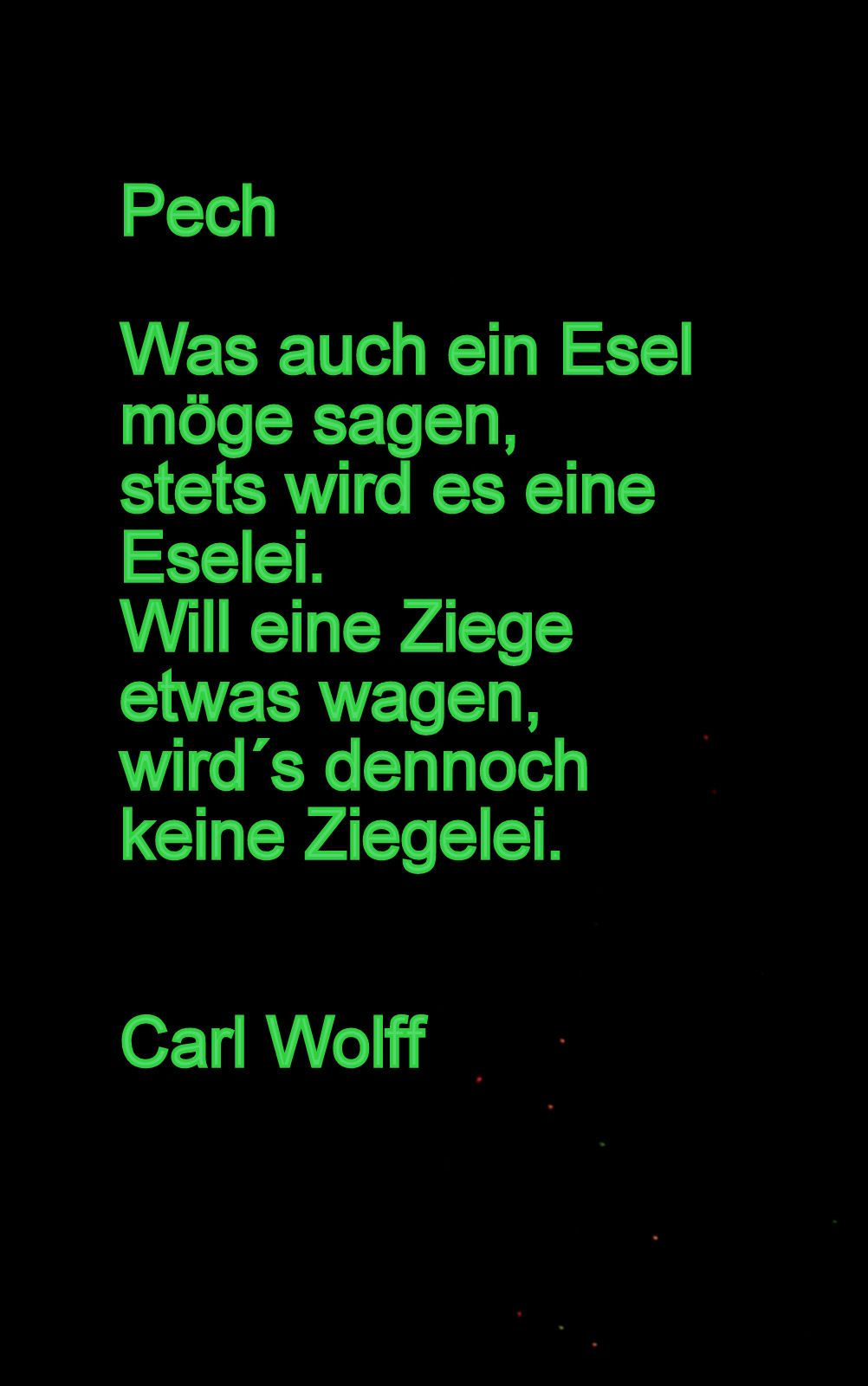 Gedicht Von Carl Wolff Lustige Gedichte Lustige