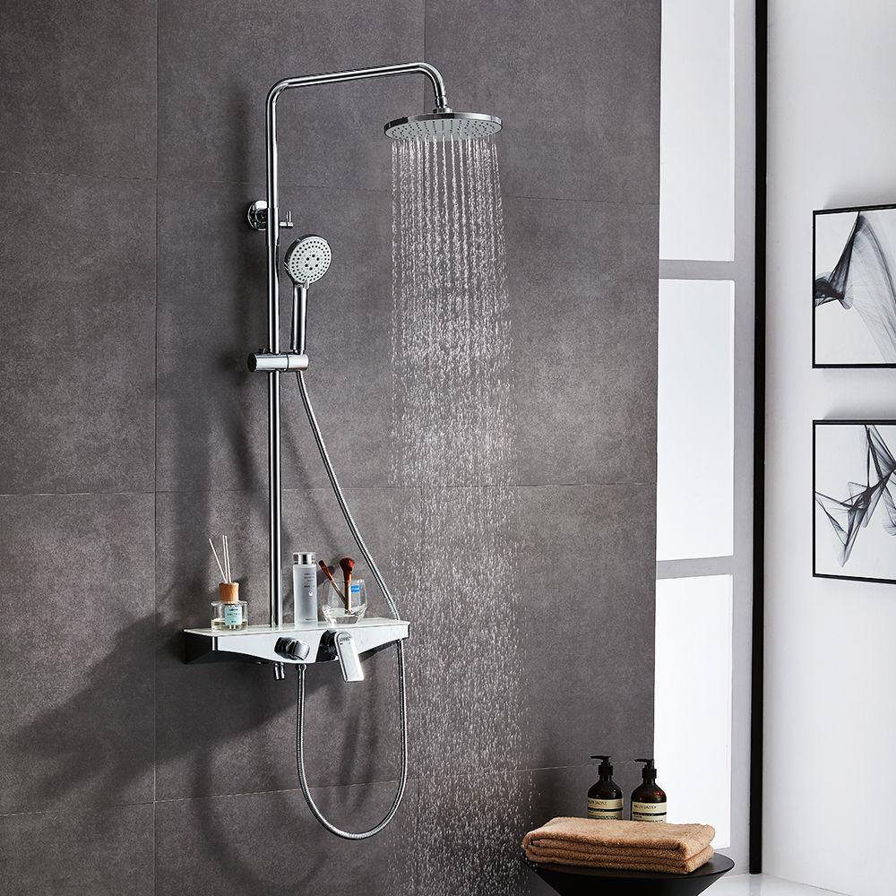 3 Funktion Duschsystem Duschset Mit Duschkopf Handbrause Verstellbar Duschstange Ceiling Lights Wall Lights Bathtub
