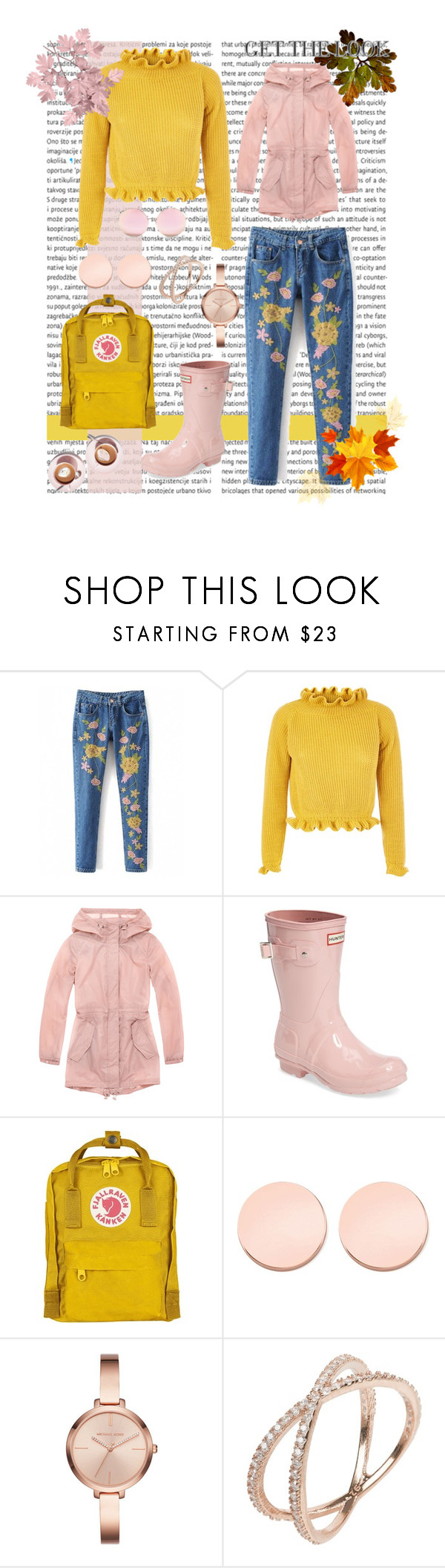 """""""it's a fall look"""" by eboony800 ❤ liked on Polyvore featuring Marc New York, Hunter, Fjällräven, Thomas Sabo, Michael Kors and Matthew Williamson"""