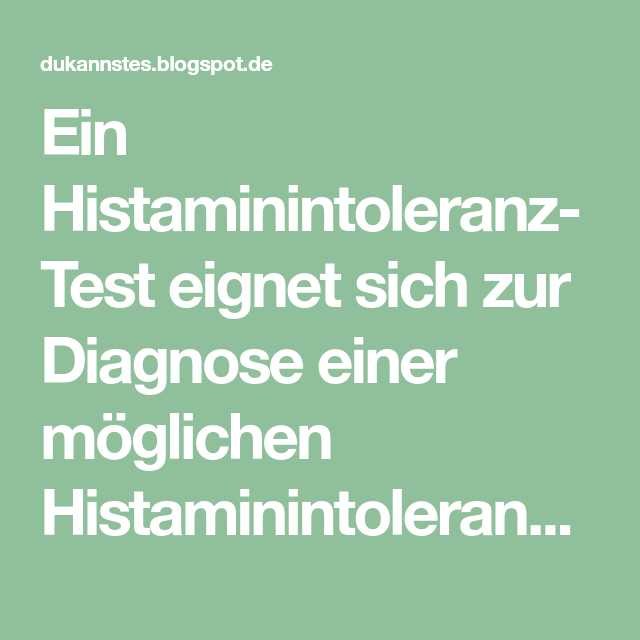 Histaminintoleranz Symptome Psyche