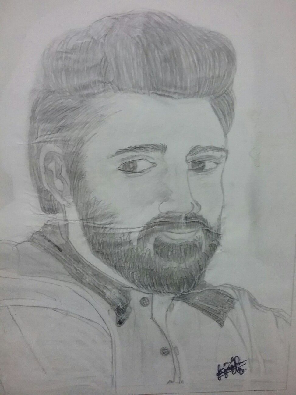 Portrait trial malayalam film actor nivinpauly pencil drawing by me
