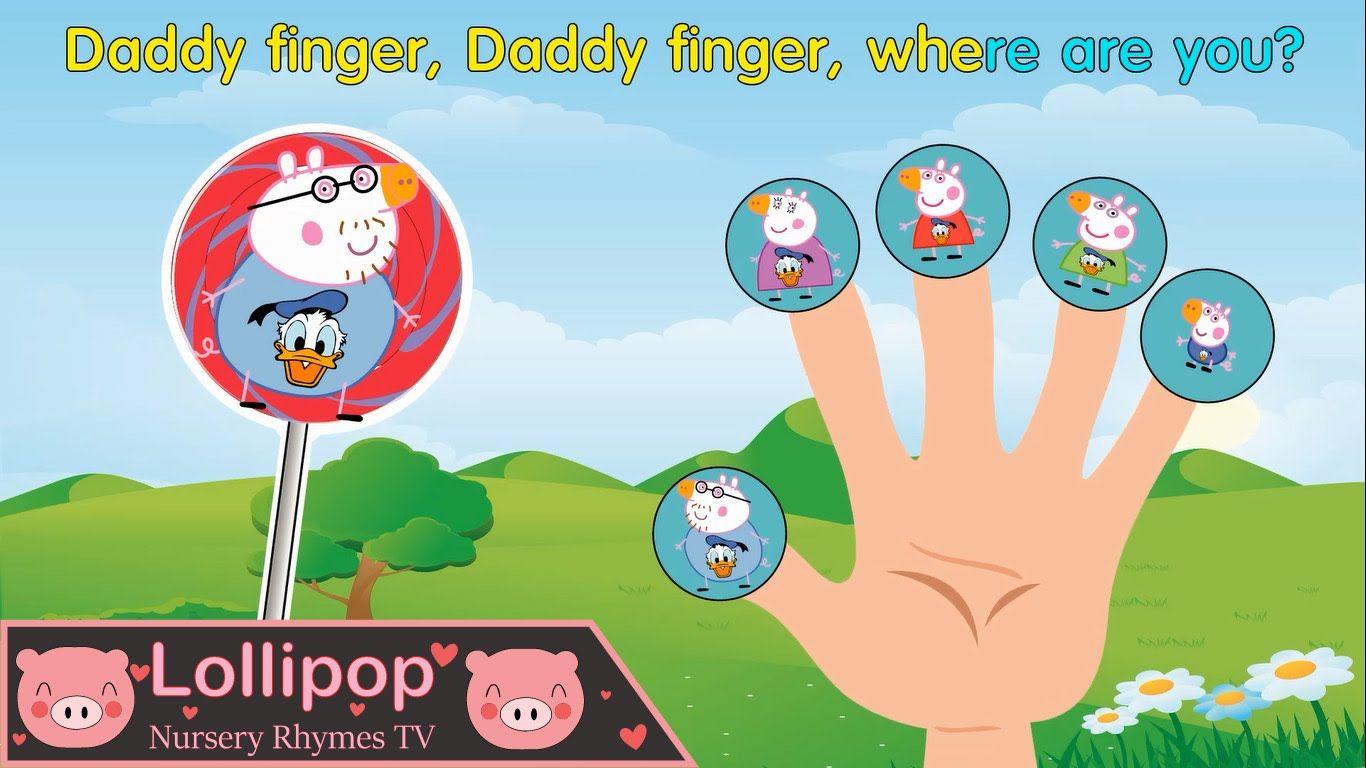Peppa Pig Donald Duck Lollipop Finger Family Nursery Rhyme