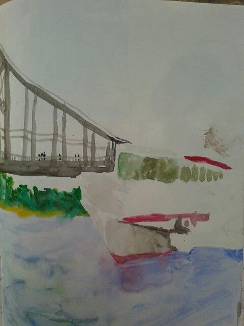 Another old sketch. By Trukhanov island, Kyiv