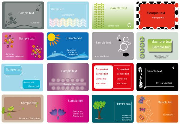 Business card free vector set business card templates pinterest business card free vector set reheart Gallery