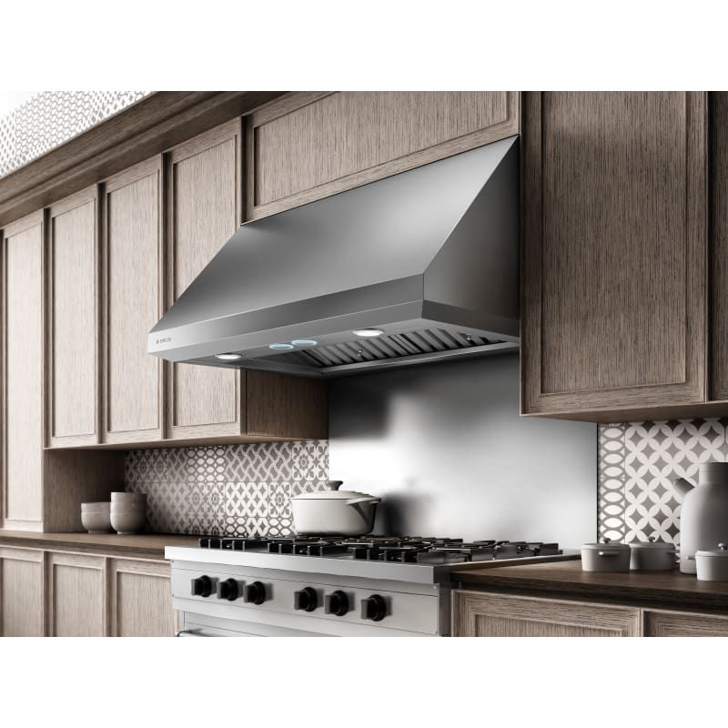 Elica Ecl142s4 Stainless Steel 375 1200 Cfm 42 Inch Wide Under Cabinet Range Hood With Hush System And Heat Guard Technology In 2021 Under Cabinet Range Hoods Contemporary Kitchen Kitchen Vent Hood