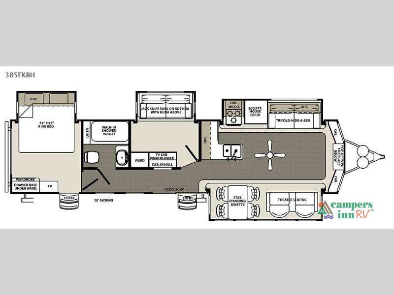 New 2016 Forest River Rv Sandpiper Destination Trailers 385fkbh Destination Trailer Travel Trailer Floor Plans Rv Floor Plans Rv Camping Checklist