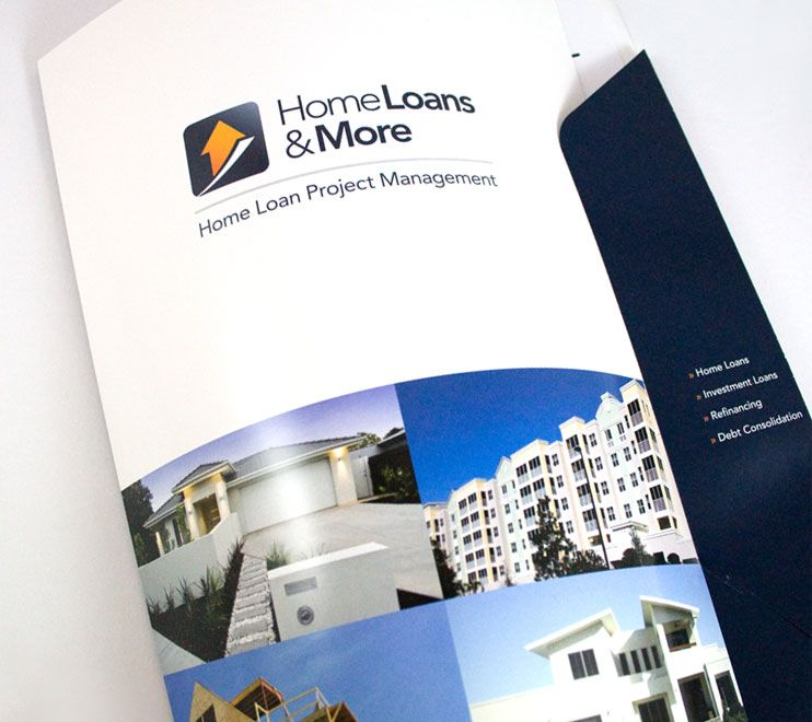 Client: Home Loans & More | Project: Presentation Folder Design
