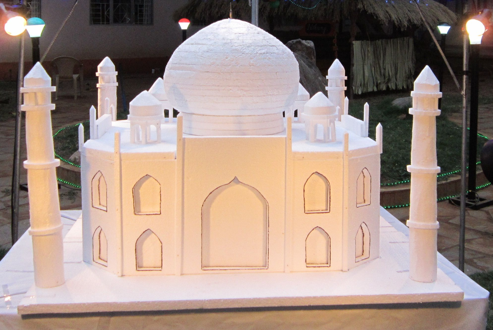 Taj Mahal Model made of thermocol Taj mahal proyect