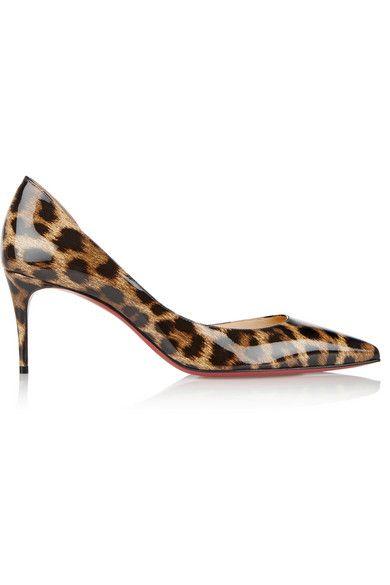 ff105a0ef904 CHRISTIAN LOUBOUTIN Iriza 70 Leopard-Print Patent-Leather Pumps.   christianlouboutin  shoes  pumps