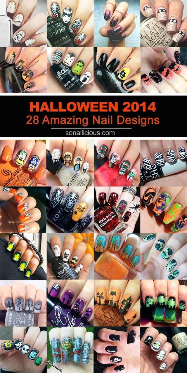 28 Amazing Halloween Nail Art Ideas Pinterest