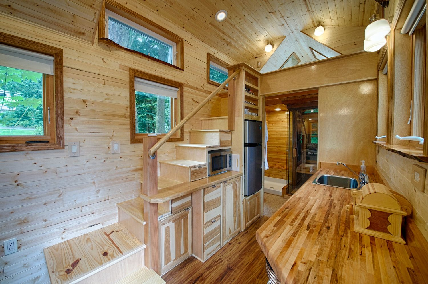 Tiny house kerry alexander hope island cottages for Minimalist house on wheels