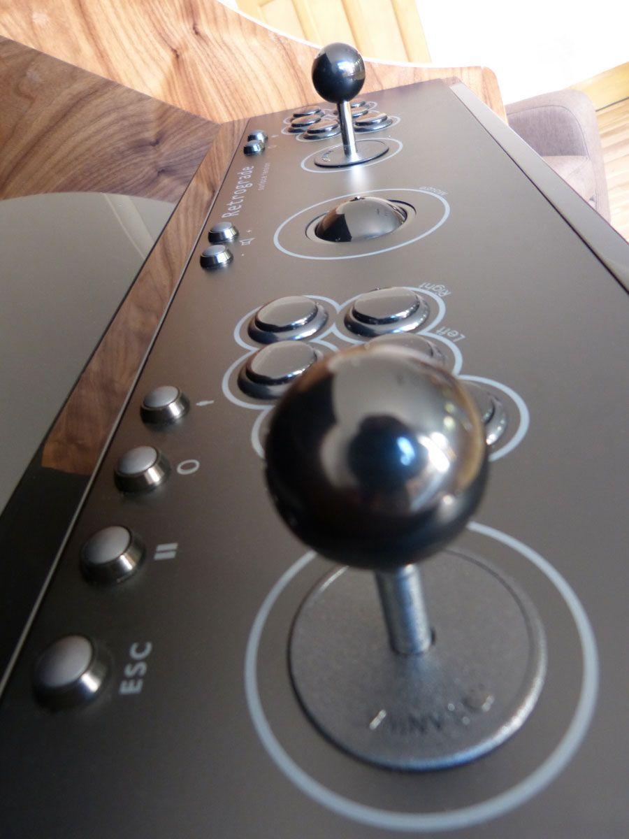 Retrograde arcade machine control panel with Ultimarc joysticks