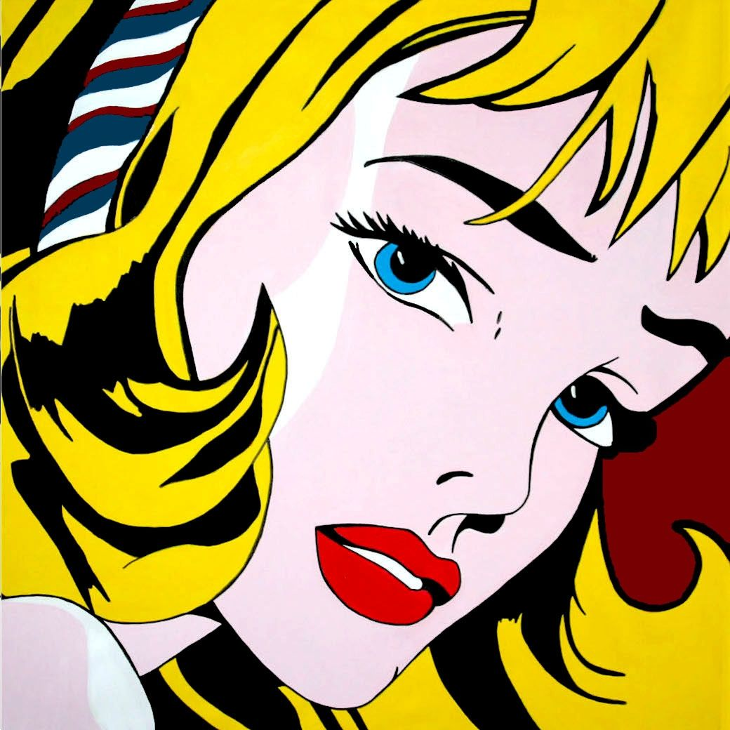 Roy Lichtenstein Cuadros Roy Lichtenstein Pop Art Hommage Roy Lichtenstein Pop