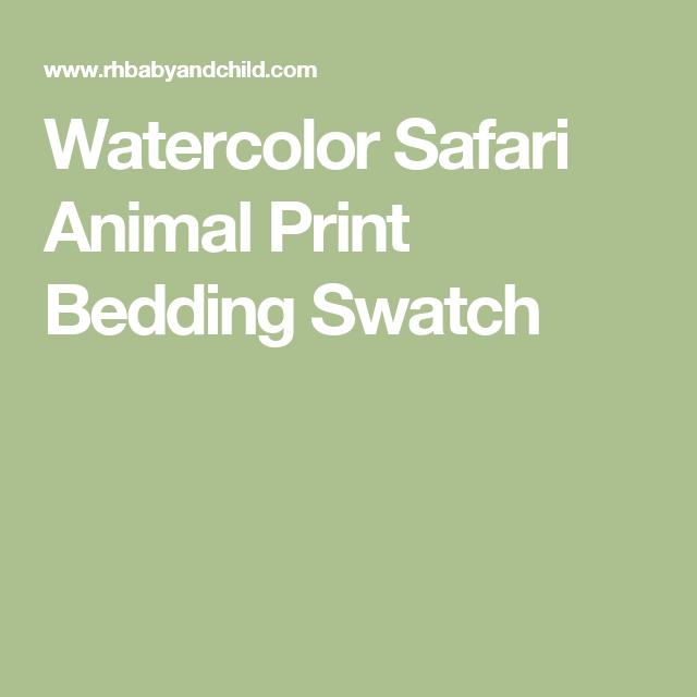 Watercolor Safari Animal Print Bedding Swatch