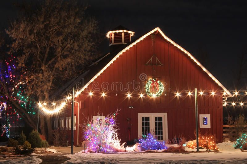 Christmas On The Farm Christmas Lights Decorate A Farm Scene Along The Trail Of Lights In The Denver Botanic In 2020 Farm Light Christmas Farm Denver Botanic Gardens