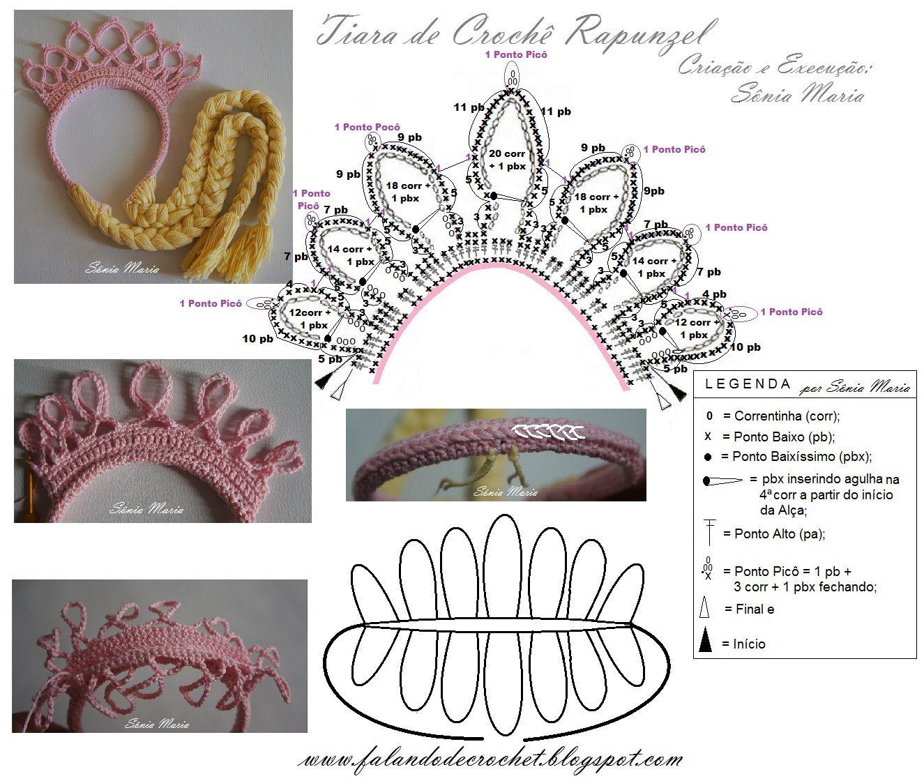 TIARA DE CROCHE RAPUNZEL | Wedding Inspirations | Pinterest ...