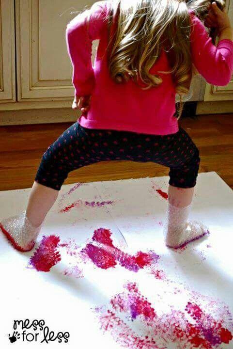 Dipingo con i piedi
