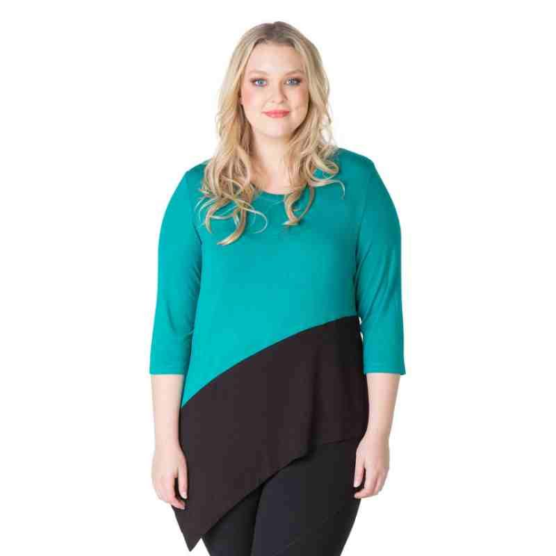 PRE-ORDER - Asymmetrical Colour Block Tunic (EVERGREEN) $69.95 http://www.curvyclothing.com.au/index.php?route=product/product&path=95_104&product_id=6862