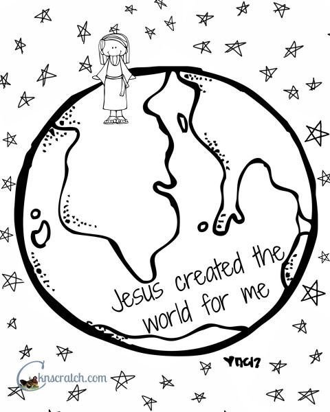 Behold Your Little Ones Lesson 7 Jesus Christ Created The World For Me Cute Coloring PagesJesus