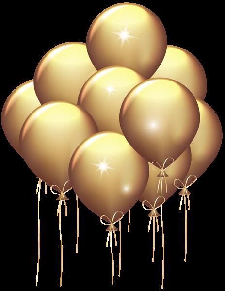 gold balloons transparent clip