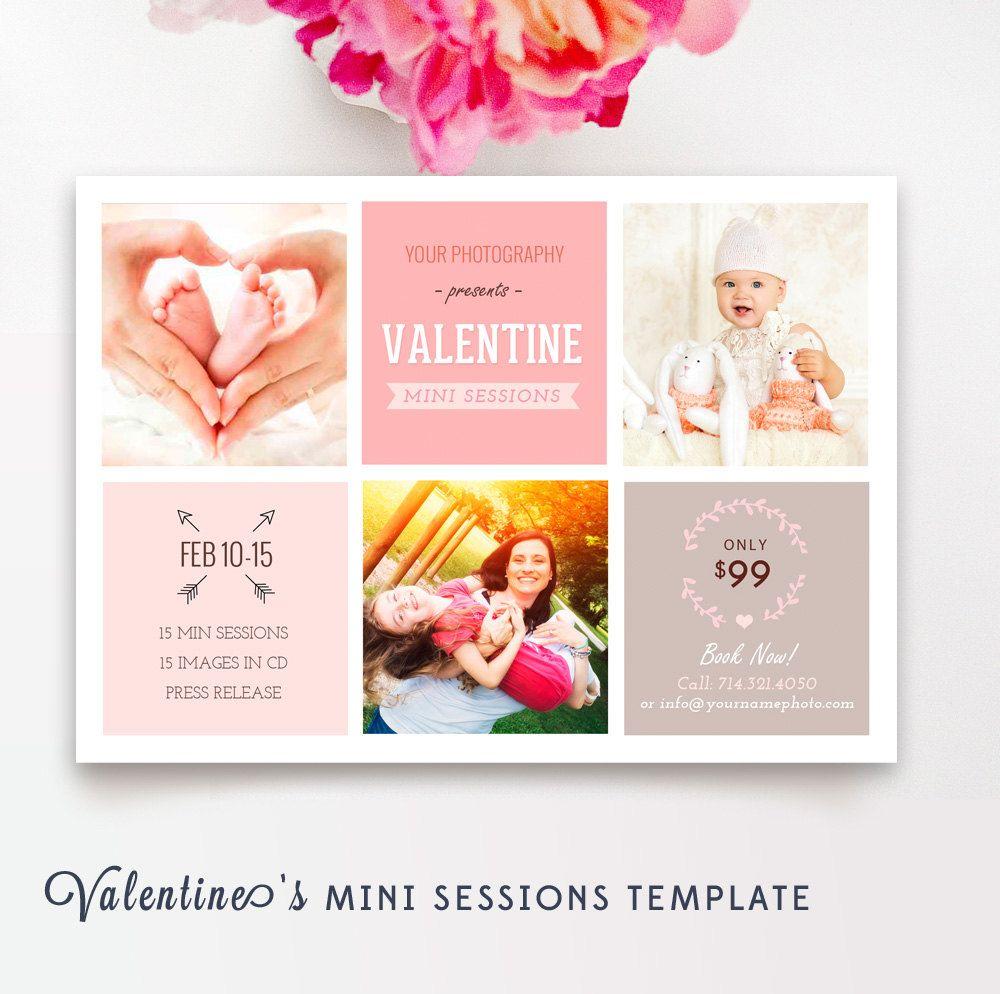 Valentine\'s Day Marketing Board - Valentines Mini Session Template ...