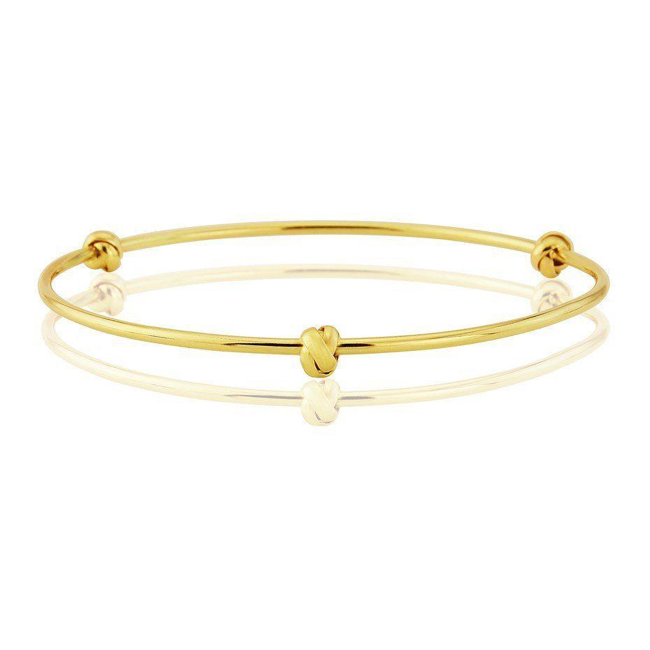 Ct gold bangle with love knots gold bangles bangle and british