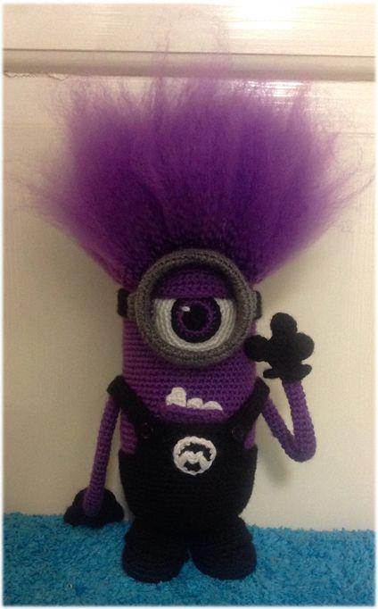 Crochet evil minion | Crochet Minion | Pinterest | Häkeln