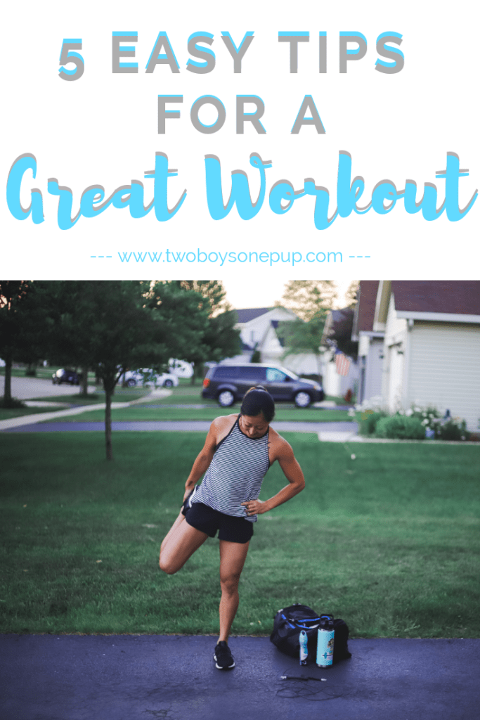 5 Easy Tips For A Great Workout Health Fitness Tips