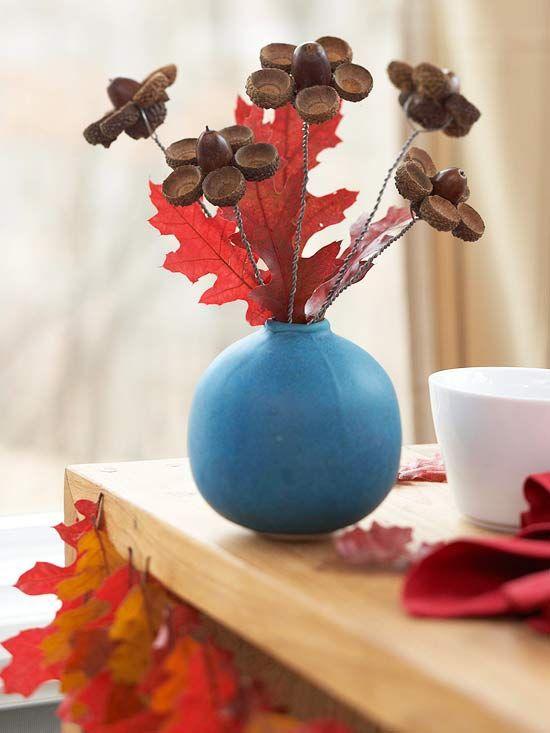 Quick nature crafts for Diy acorn crafts