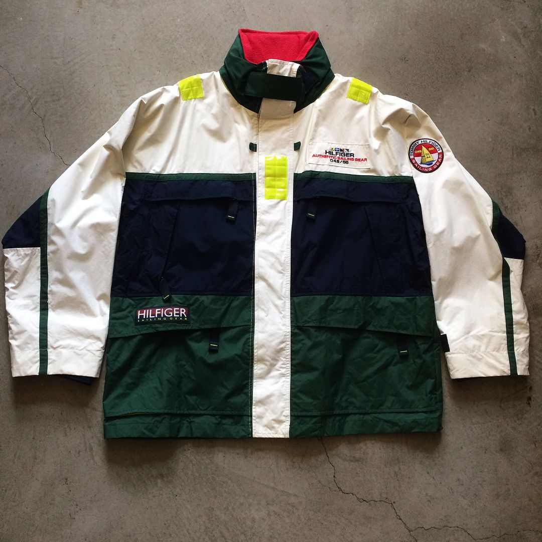 Tommy Hilfiger Sailing Gear Jacket Size Xl Measures 29 Pit To Pit 37 Long 150 24 Domestic Shipping Call 415 79 Vintage Jacket Jackets Sailing Gear [ 1080 x 1080 Pixel ]