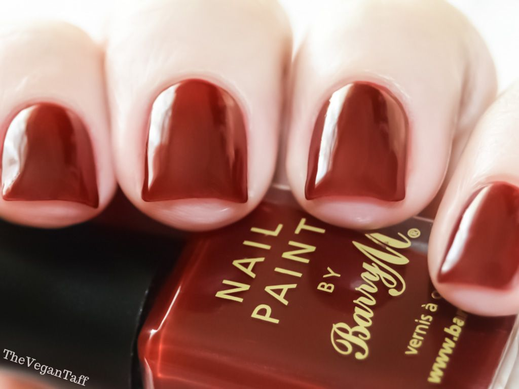 Manicure Monday Barry M Red Wine Nails Nail Paint Manicure