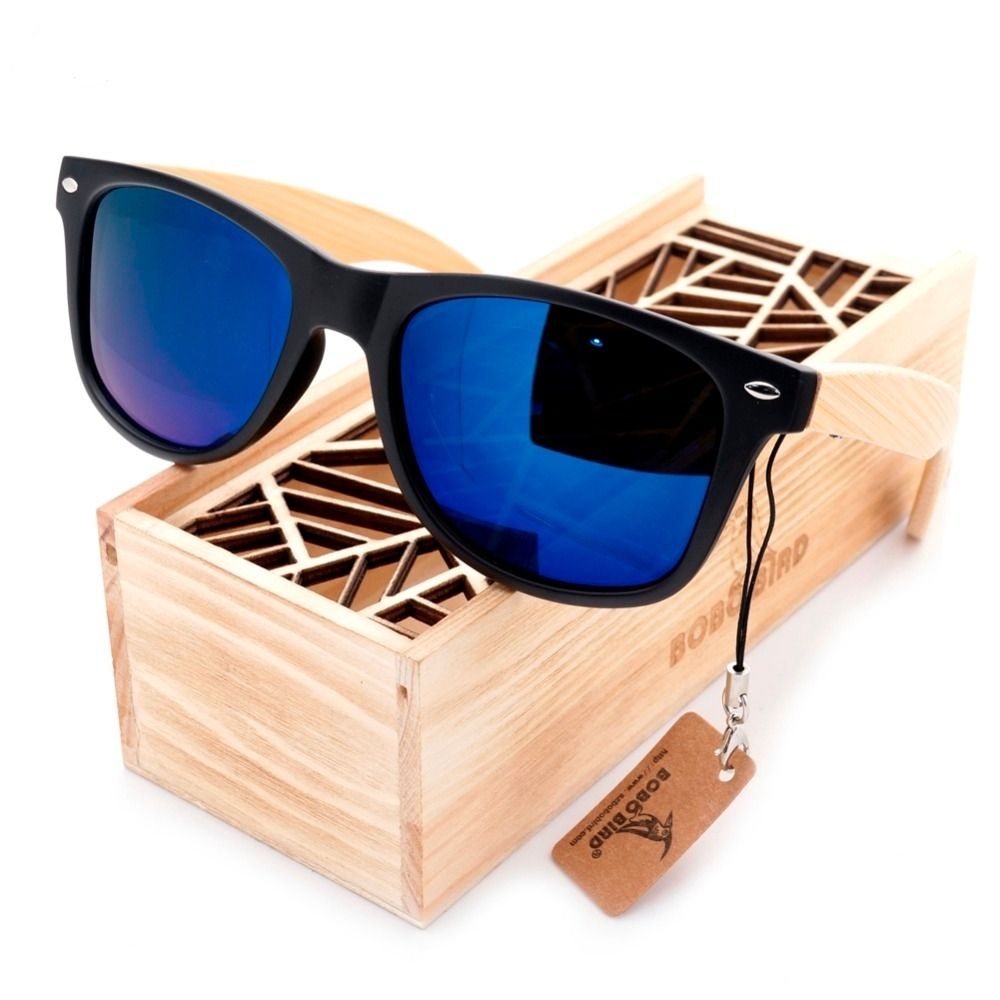 95b5fed171 Vintage Black Square Mirrored Polarized Sunglasses With Bamboo Legs in Wood  Box   Price   20.24   FREE Shipping     getanchored  positivevibes  cool   classy ...
