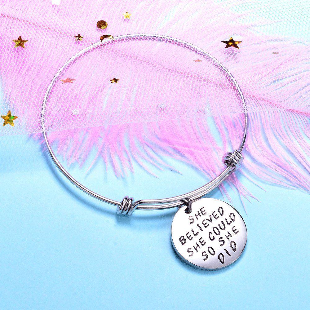 8d7709d22de77 Wanmei 3pcs Wire Bangle Stainless Steel expendable Charm Bracelet ...
