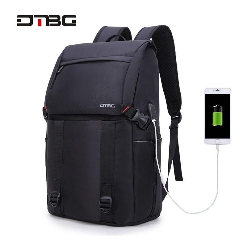 17.3 Inch Laptop Back DTBG Nylon Water Resistant Work Laptop Rucksack  College Shoulder Back Pack Waterproof Travel Bag Knapsack eba6a65126cc6