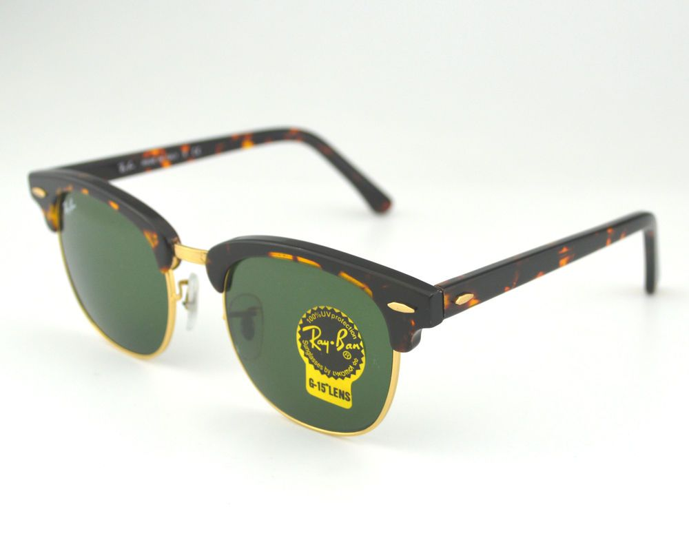08e4f19a68 Ray Ban RB 3016 Clubmaster Classic W0366 Tortoise Frame Green Classic G-15  Lense  RayBan