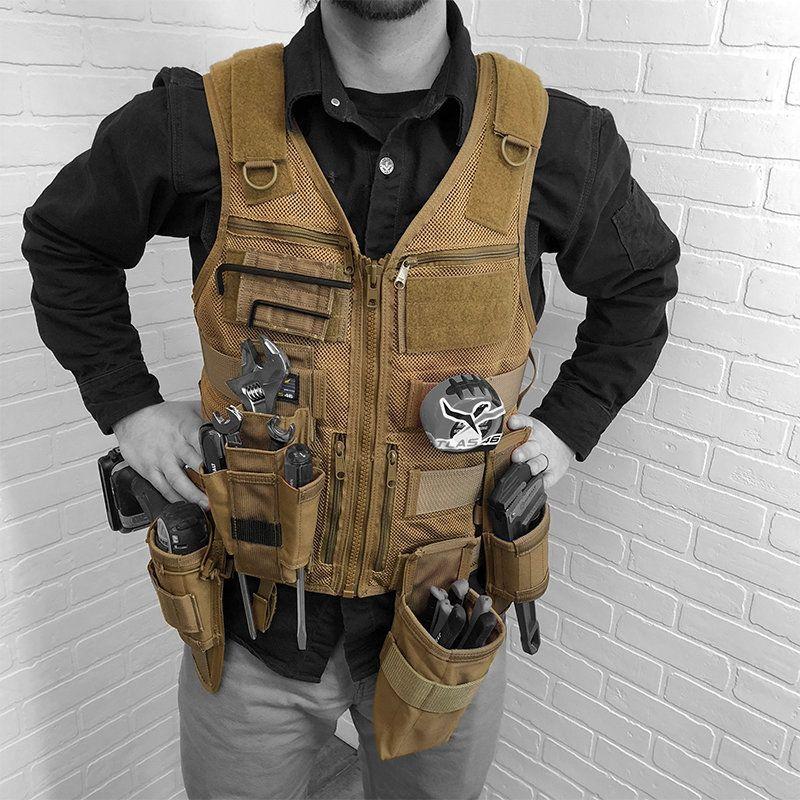 Saratoga Tool Vest™ Plumber Kit Woodworking clothing